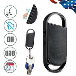 8GB USB Digital Voice Audio Recorder Mini Keychain Dictaphon