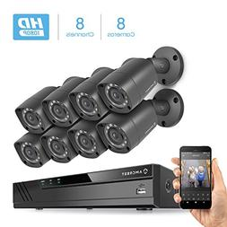 Amcrest Full-HD 1080P 8CH Video Security System w/Eight 2MP