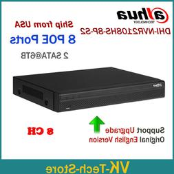 Dahua Updatable 6MP 8CH 8POE NVR Recorder NVR2108HS-8P-S2 8