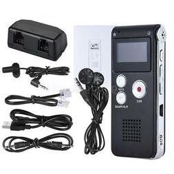 5x8G Digital Audio Voice Recorder Rechargeable Dictaphone Te