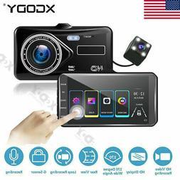 """4"""" 1080P Car DVR Dash Cam Video Recorder Camera Dual Lens G-"""