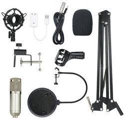 BM800 Condenser Microphone W/ Arm Filter For Audio Studio Re