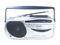 Craig Electronics CD6911 Portable AM/FM Radio Cassette Playe