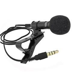 Clip-on Lapel Mini Lavalier Mic Microphone 3.5mm for Mobile