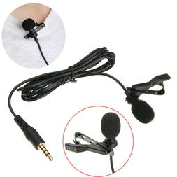 Clip-on Mini Lavalier Lapel Mic Microphone 3.5mm For Phone L