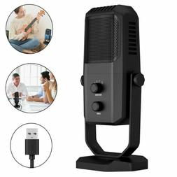 Condenser USB Microphone for Meeting Game Chat Studio Record