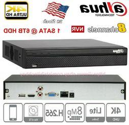 DAHUA NVR 2108HS-4KS2 8Ch. 4K H.265 8MP P2P HDMI Network Vid