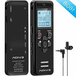 Digital Voice Recorder for Lectures - EVIDA 16GB Voice Activ