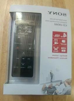 Sony Digital Voice Recorder ICD-UX560BLK 4GB BRAND NEW SEALE