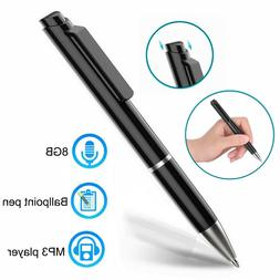 Cooligg Digital Voice Recorders Dictaphones 8GB Spy Pen MP3