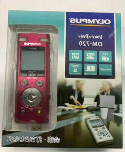 Olympus DM-720 Digital Voice Recorder 4GB RED From Japan
