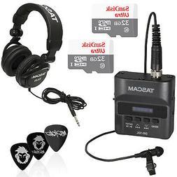 Tascam DR-10L Audio Recorder Mic Bundle w/ 32GB Sandisk SD +
