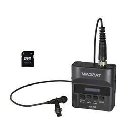Tascam DR-10L Digital Audio Recorder w/ Lavalier Mic & EV Mu