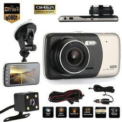 Dual Camera Dash Cam Front & Rear for Cars 170°Wide Angle D