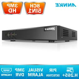 ANNKE Full 3MP 8CH Security P2P DVR Video Recorder Home Smar