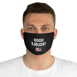 Good Trouble US America flag Mask John Lewis Black 100% Poly