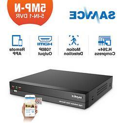 SANNCE 5in1 8CH 5MP Lite HD TVI DVR Digital Video Recorder C