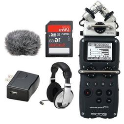 Zoom H5 Handy Recorder Kit with a Custom Windbuster, AD-17 A
