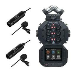 Zoom H8 Handy Recorder - With 2 Pack XLR Lavalier Microphone