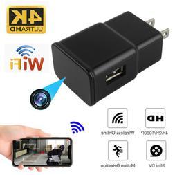 HD 1080P WiFi Recorder USB Wall Charger Mini Motion Camera P