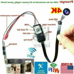 HD 4K Wifi IP P2P Wireless Camera Hidden Spy Camera Security