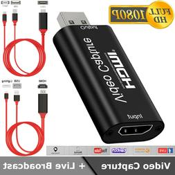 HDMI to USB2.0 Video Capture Card 1080P Recorder Phone Game/