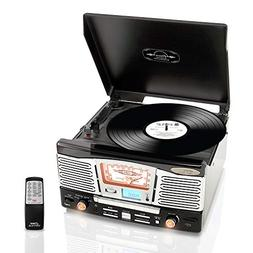 Updated Version Classic Style Turntable - Built-in Speakers,