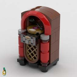Lego Jukebox - Retro Music Record Player Minifig Scale Diner