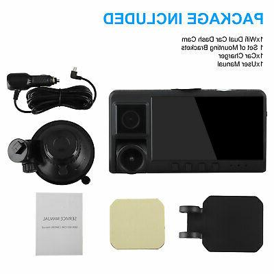 WiFi Front+Inside DVR Camera Vehicle Dash Cam Video Recorder