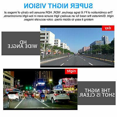 WiFi 1080P Dual Lens Front+Inside Car Vehicle Recorder