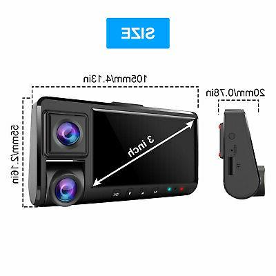 WiFi 1080P Dual Front+Inside Car Recorder