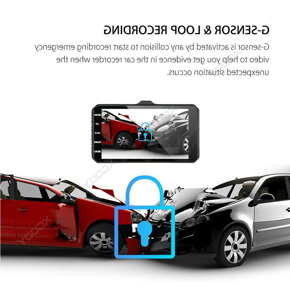 "1080P 4"" Dual Dash Cam Recorder Front and Rear"