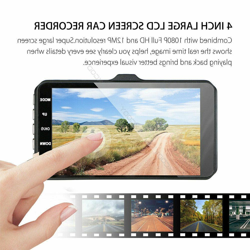 1080P Dual Lens Touch Dash Recorder and Rear Camera