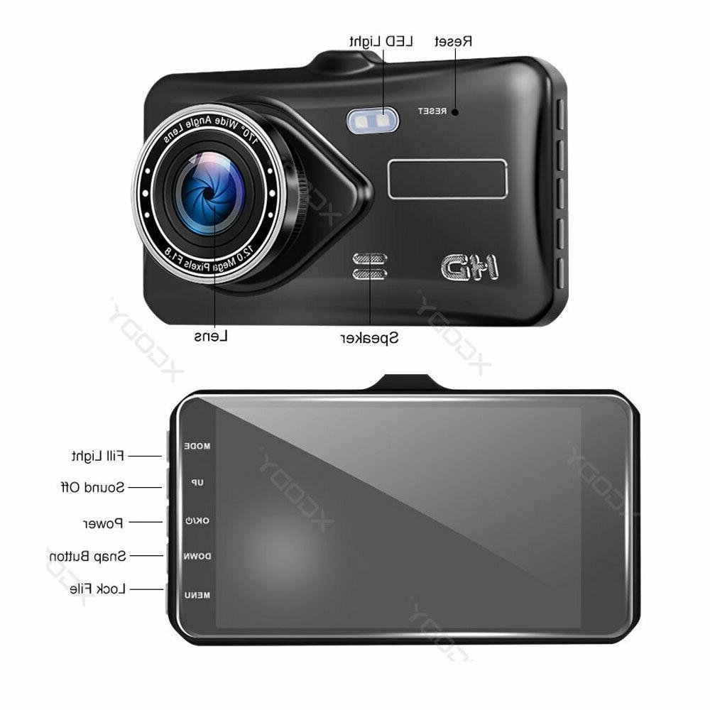 1080P Dual Lens Touch Screen Car DVR Dash Cam Recorder and