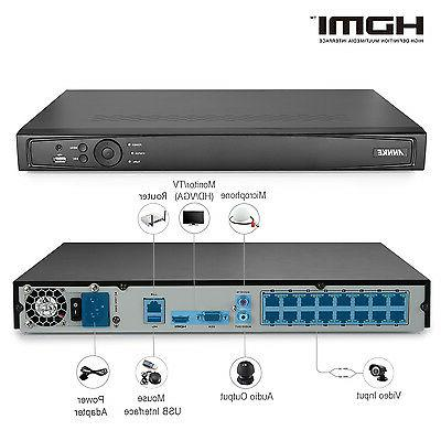 16ch 4k 8mp nvr poe ip network