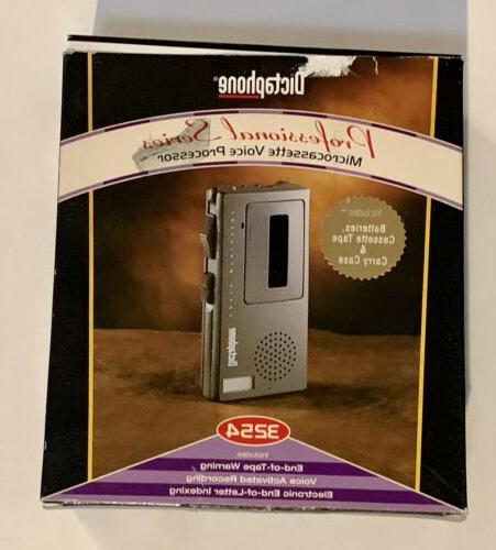 3254 portable handheld microcassette voice recorder w