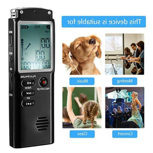 32G Voice Spy Digital Sound Recorder MP3 Player