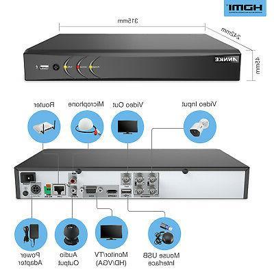 ANNKE HD Recorder 4CH H.264+ DVR for Smart Camera