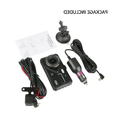 "4"" Dual Touch Dash Cam and Rear Camera"