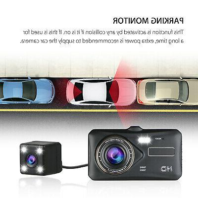 "4"" Touch Screen Dash Cam and Rear"