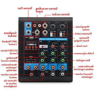 4 Mixer Mixing bluetooth Power