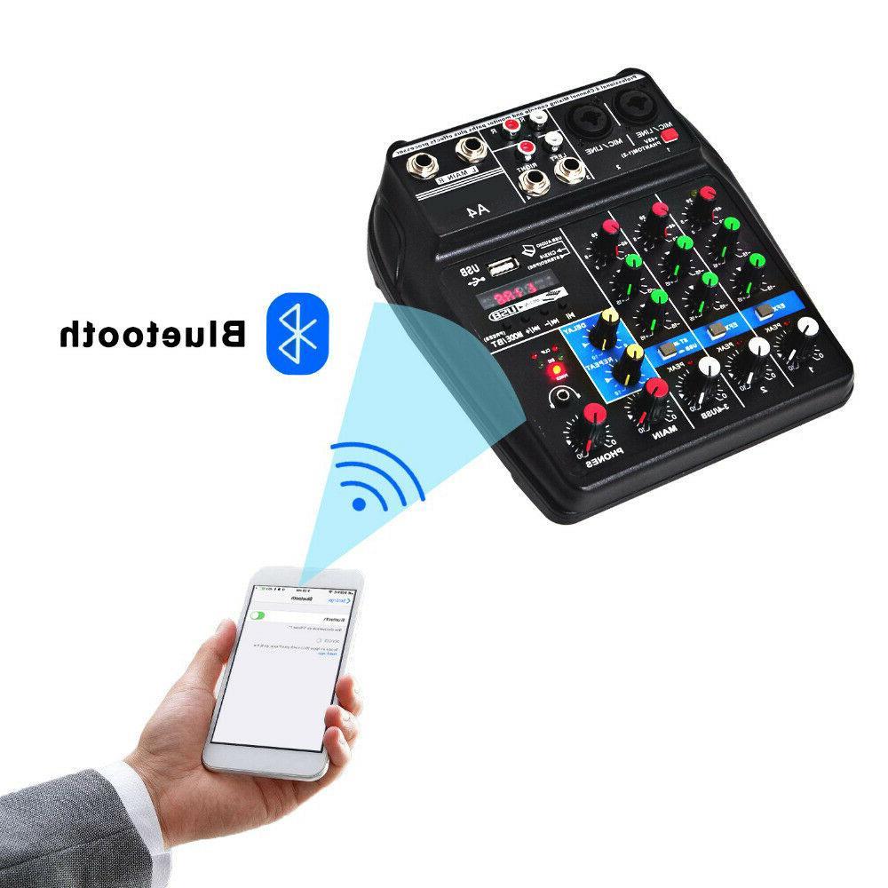 4 Audio Mixer Mixing Console Power