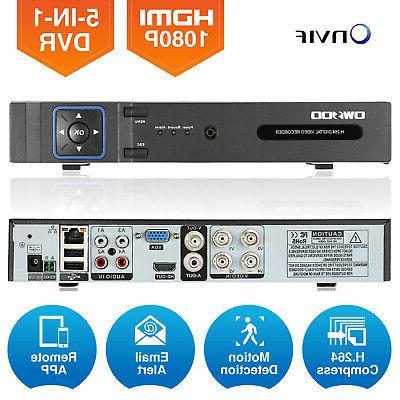 OWSOO 4/8Channel 1080P NVR AHD TVI DVR Video Recorder Onvif
