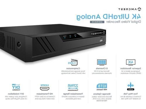 Amcrest 4K UltraHD Channel DVR Camera System Security &