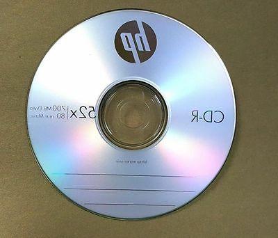 50 Blank CD-R CDR Recordable Logo 52X 700MB 80MIN Disc