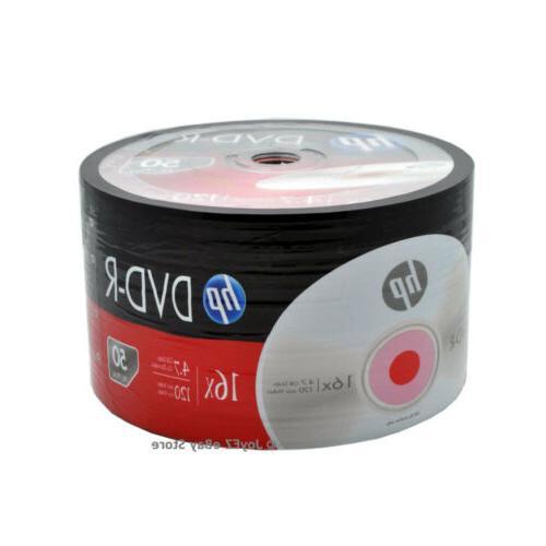 600 Pack HP Brand Logo DVDR Disc Wholesale Lot