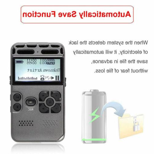 64G Rechargeable Audio Sound Dictaphone MP3