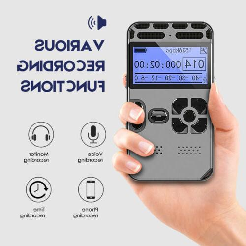 64G Rechargeable Audio Sound Voice Dictaphone
