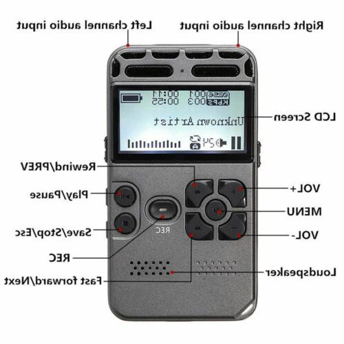 64G Rechargeable LCD Audio Sound Voice