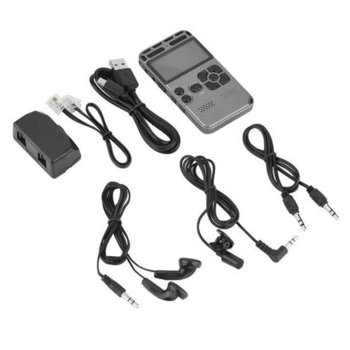 64G Rechargeable LCD Dictaphone Player